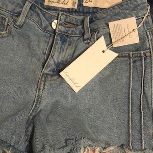 e981dffdcf Unpublished Shorts - Unpublished Stella Light Wash Denim Cutoff Shorts